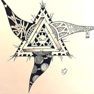Creative Triangle Tattoo