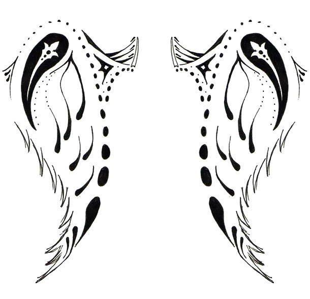 Creative Wings Tattoo Design