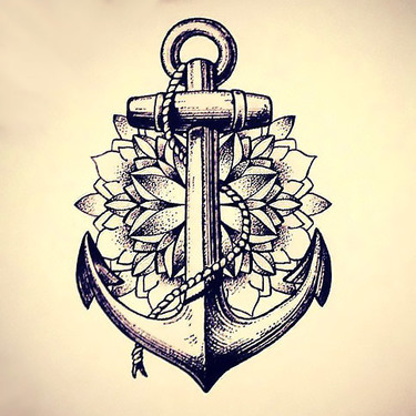 Dotwork Anchor Tattoo