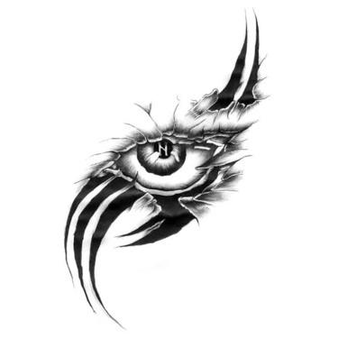 Eye Scar Tattoo