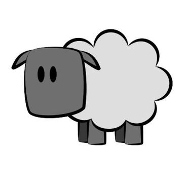 Funny Sheep Tattoo