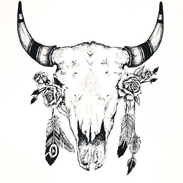Great Bull Skull Tattoo
