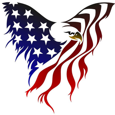 Great Us Flag Eagle Tattoo