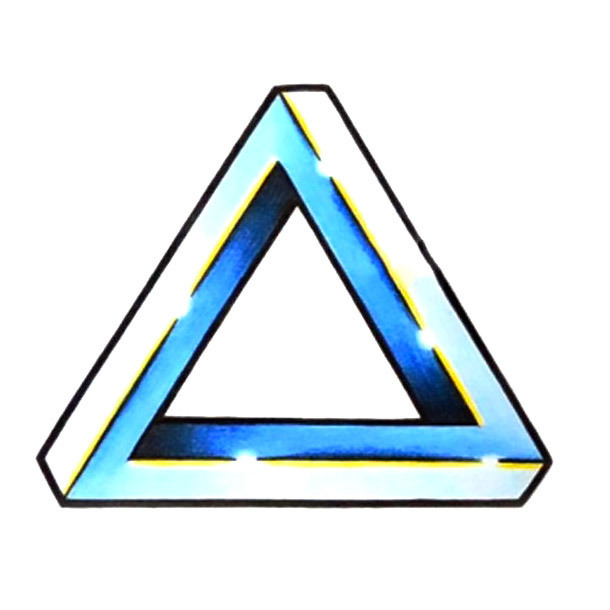Illusion Triangle Tattoo Design