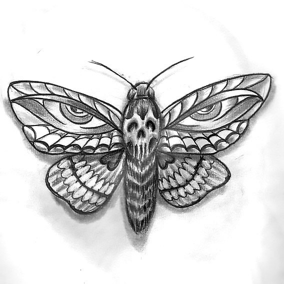Moth Eyes Tattoo Design