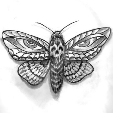 Moth Eyes Tattoo