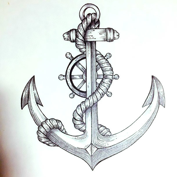 Nautical Anchor Tattoo Design