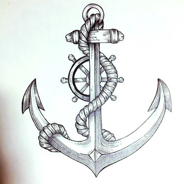 Nautical Anchor Tattoo
