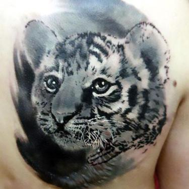 Beautiful Baby Tiger Tattoo