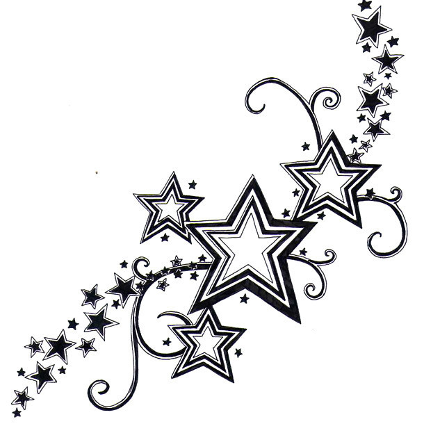 Nice Stars Tattoo for Girls Tattoo Design