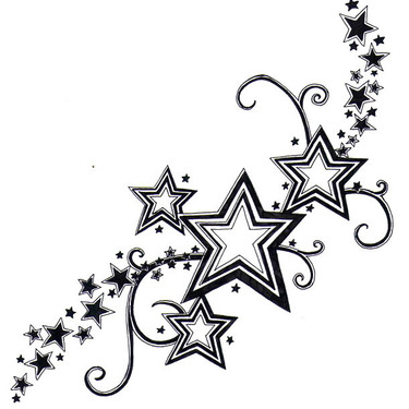 Nice Stars Tattoo for Girls Tattoo