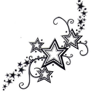 Nice Stars Tattoo for Girls Tattoo