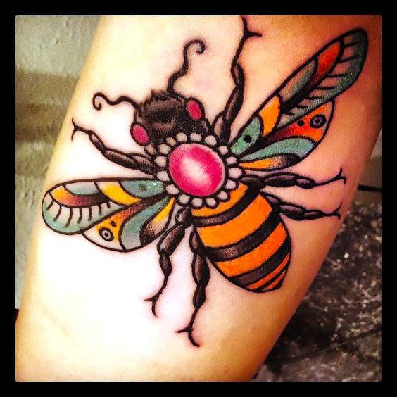 Beautiful Bee Tattoo Idea