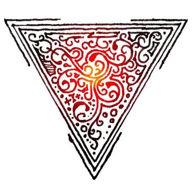 Ornate Triangle Tattoo