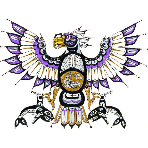 Purple Thunerbird Tattoo Design