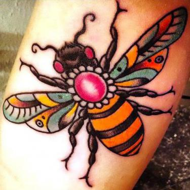 Beautiful Bee Tattoo