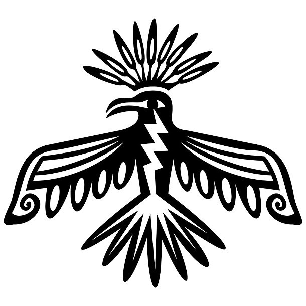 Simple Tribal Thunderbird Tattoo Design
