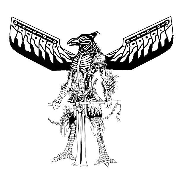 Thuderbird God Tattoo Design