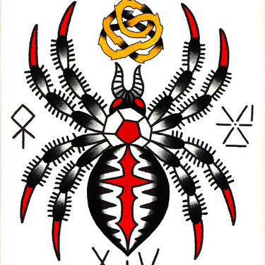 Traditional Tarantula Tattoo