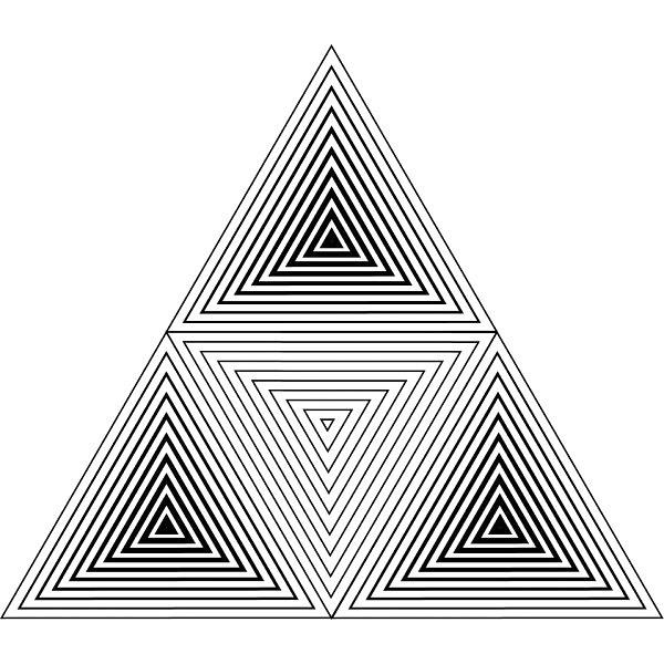 Triangle Cube Tattoo Design