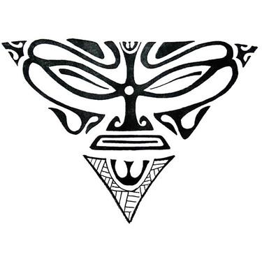 Triangle Face Tattoo