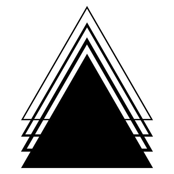 Triangles Tattoo Design
