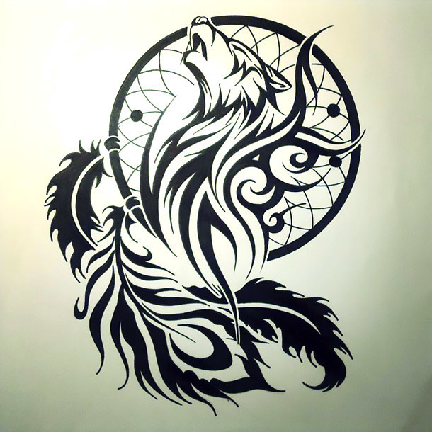 Tribal Dreamcatcher Tattoo Design