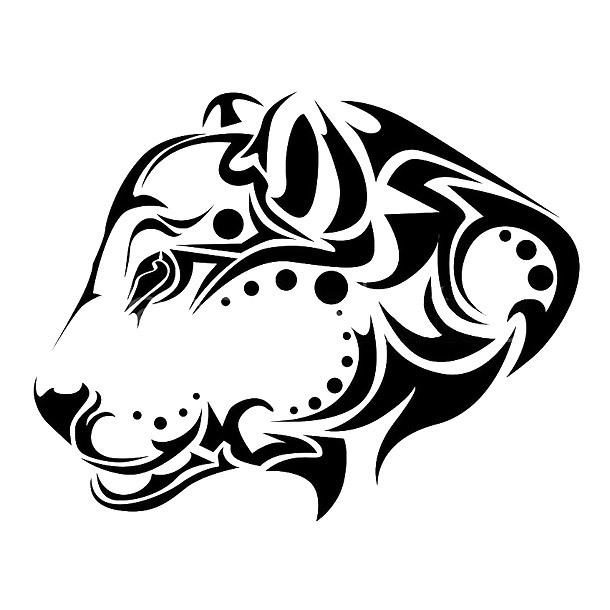 Tribal Jaguar Head Tattoo Design