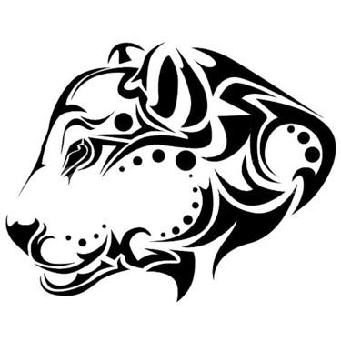 Tribal Jaguar Head Tattoo
