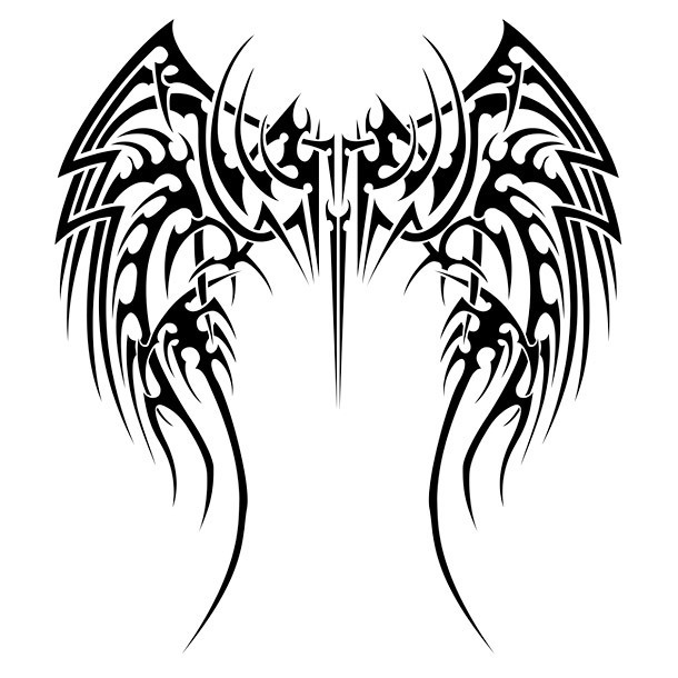 Tribal Wings Tattoo Design