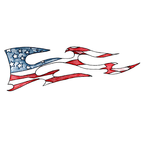US Flag Tattoo Design
