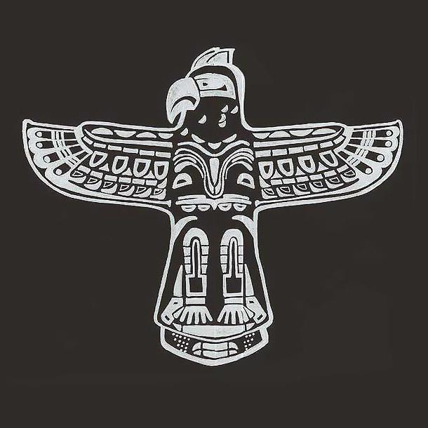 White Ink Thunderbird Tattoo Design