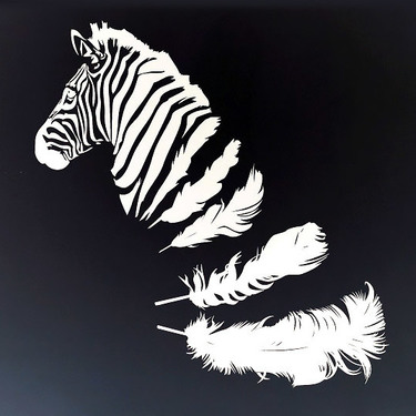 White Ink Zebra Tattoo