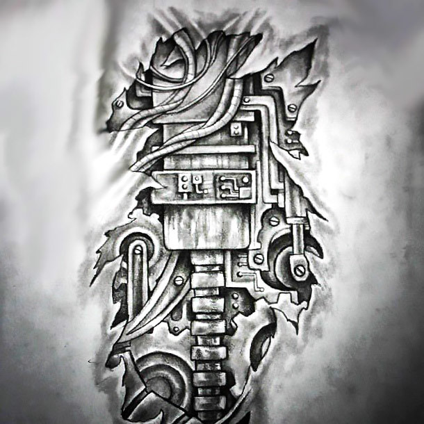 3D Biomechanical Tattoo Design