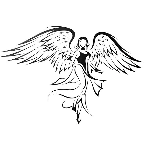 Amazing Angel Tattoo Design