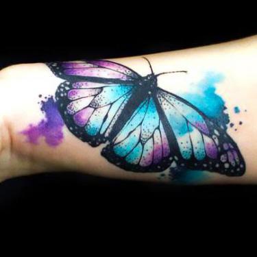 Beautiful Butterfly on The Wrist Tattoo