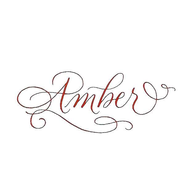 Amber Name Tattoo Design