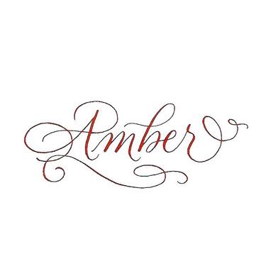 Amber Name Tattoo