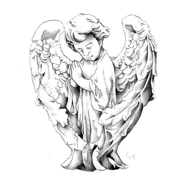 Angel Boy Tattoo Design