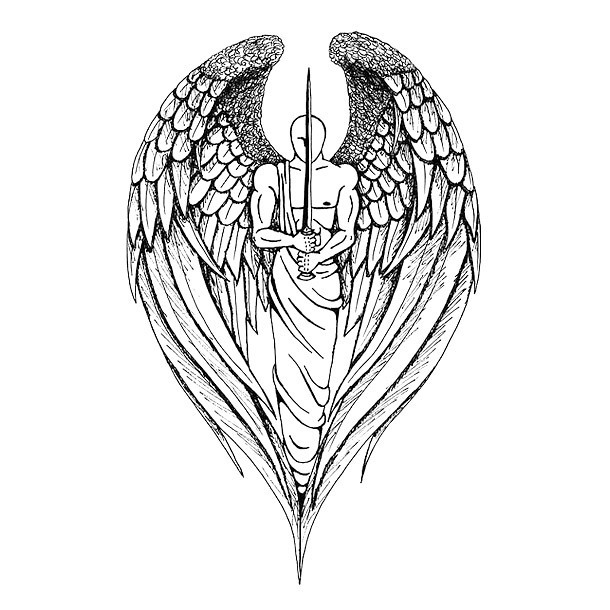 Angel Warrior Tattoo Design