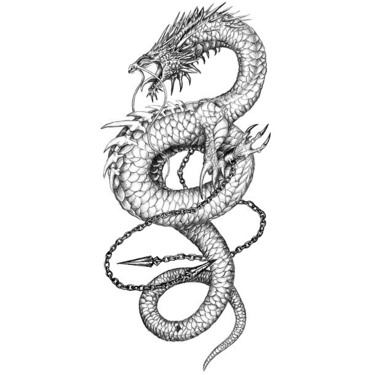 Awesome Chinese Dragon Tattoo