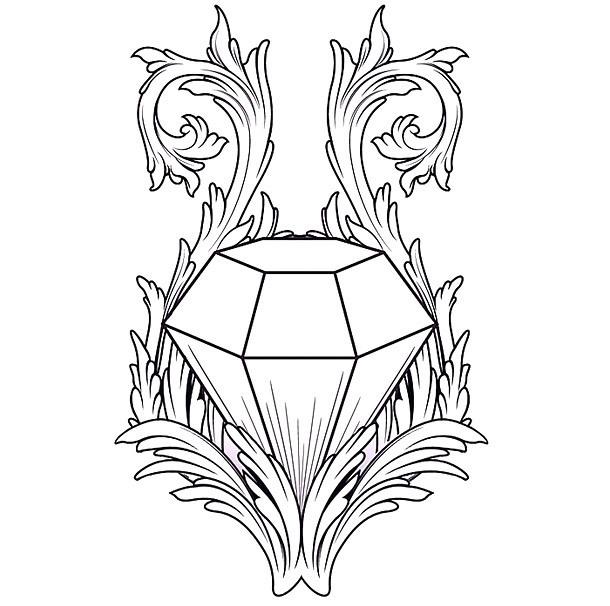 Awesome Diamond Tattoo Design