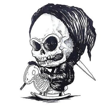 Baby Grim Reaper Tattoo