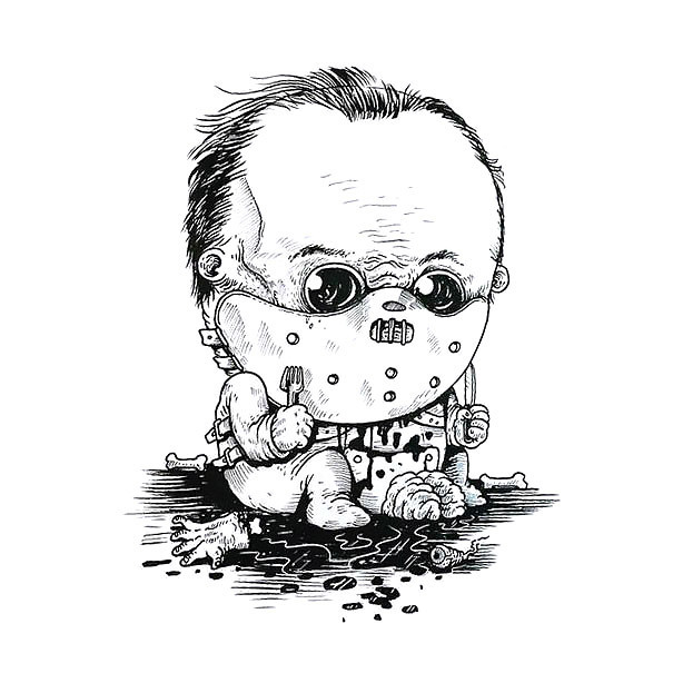 Baby Hannibal Lecter Tattoo Design