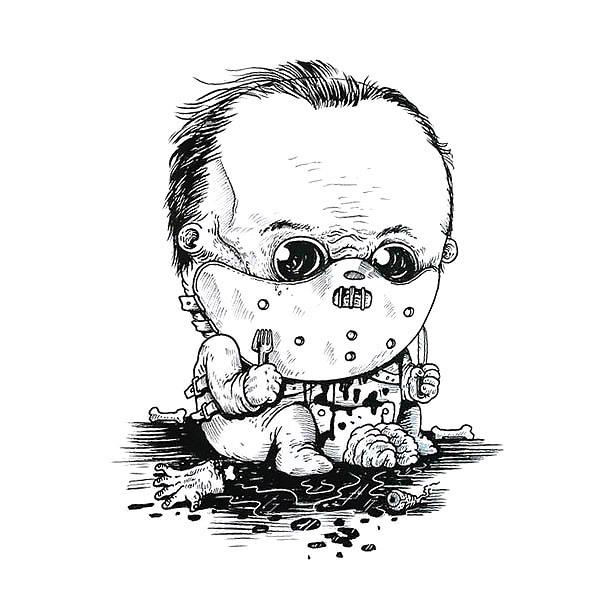 Baby Hannibal Lecter Tattoo Design