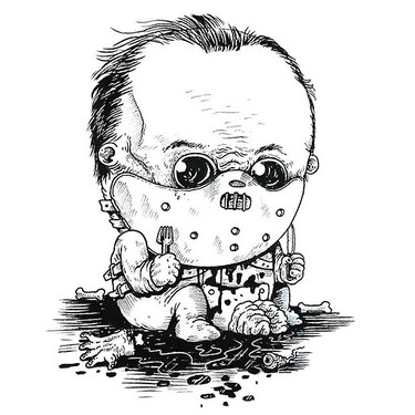 Baby Hannibal Lecter Tattoo