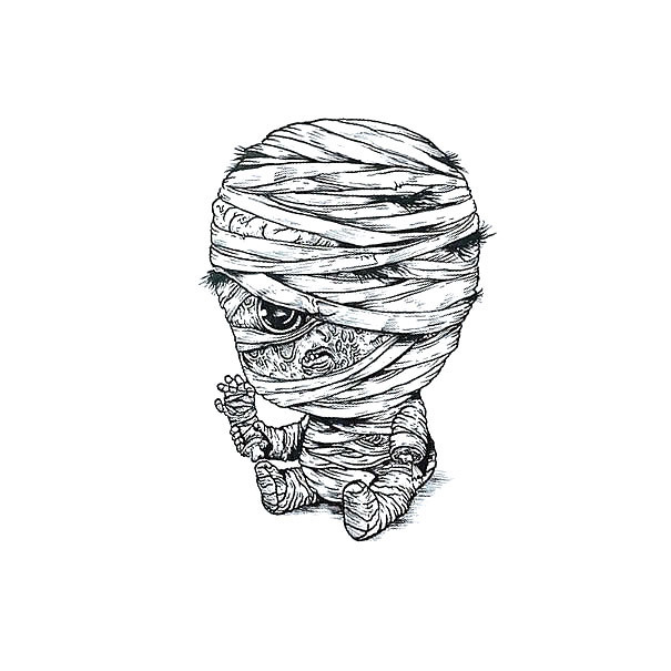 Baby Mummy Tattoo Design