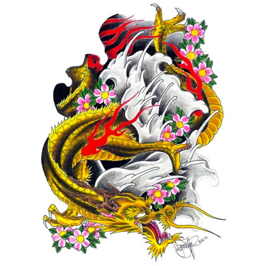 Badass Japanese Dragon Tattoo
