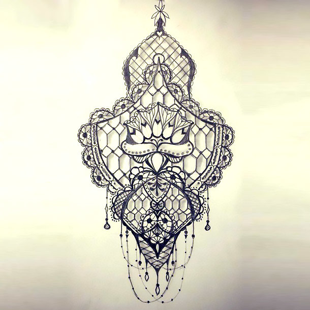 Beautiful Lace Tattoo Design