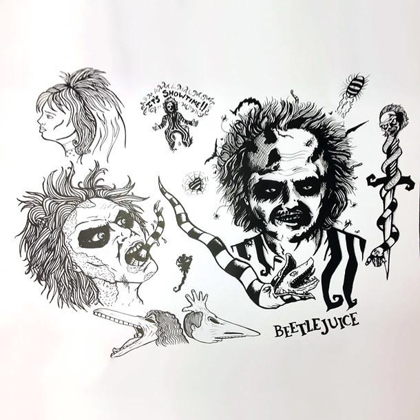 Beetlejuice Tattoo Flash Tattoo Design
